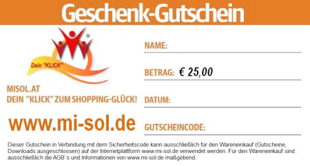 Geschenk Gutschein Euro 25
