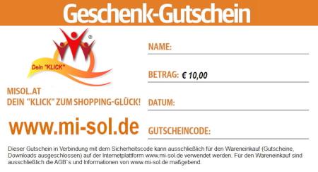 Geschenk Gutschein Euro 10